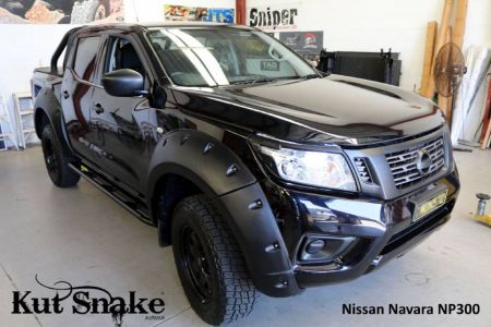 Kut Snake MONSTER plastic fender flares Nissan Navara D23 NP300 for cars with AdBlue 85 mm